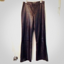 【 USED - new rum leather pants 】