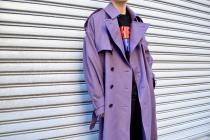 New Arrival  LITTLEBIG 2017-18AW Trench coat(PURPLE )