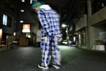 SYU.HOMME/FEMM Over plaid Shirts & punk pants BLUE or RED