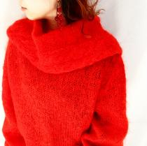 【 big collar oversize sweater 】