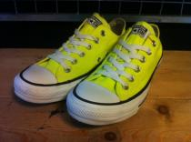 converse ALL STAR OX (ネオンイエロー) USED