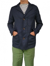 YARMO(ヤーモ)DRIVERS JACKET WOOL NAVY