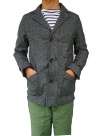 YARMO(ヤーモ)DRIVERS JACKET WOOL GREY