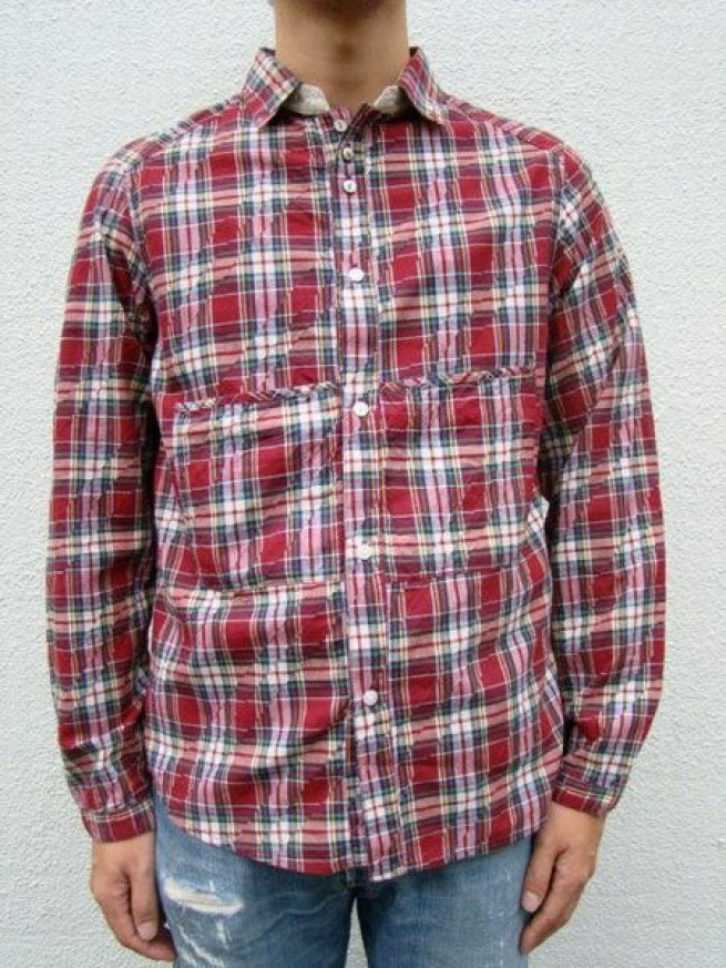 "|【VOO ヴォー】CHENGE COLLOR&HOODY SHIRTS""CHECK""写真"