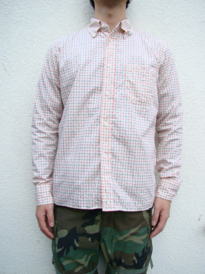 "|【N.O.UN ナウン】B.D SHIRTS ""TATERSALL""(WHITE)写真"