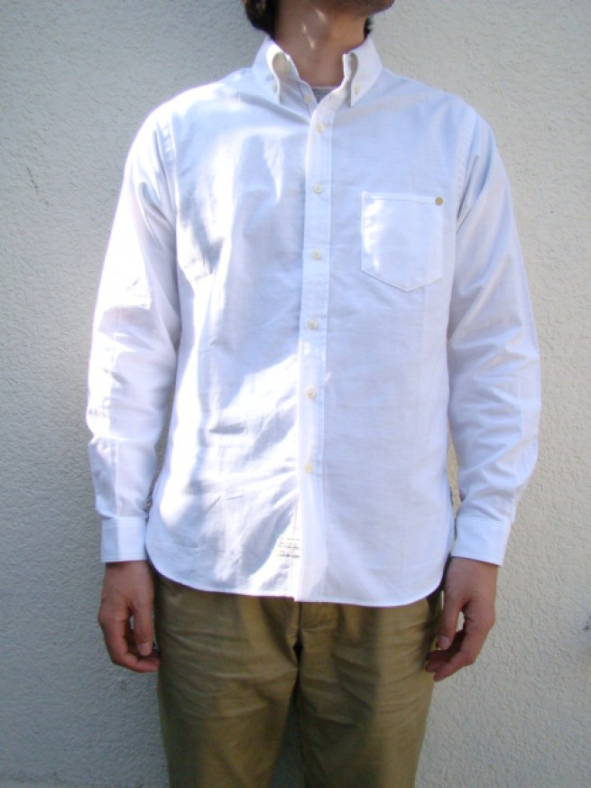 "|【anachronormアナクロノーム】OXFORD B.D SHIRTS ""white""写真"