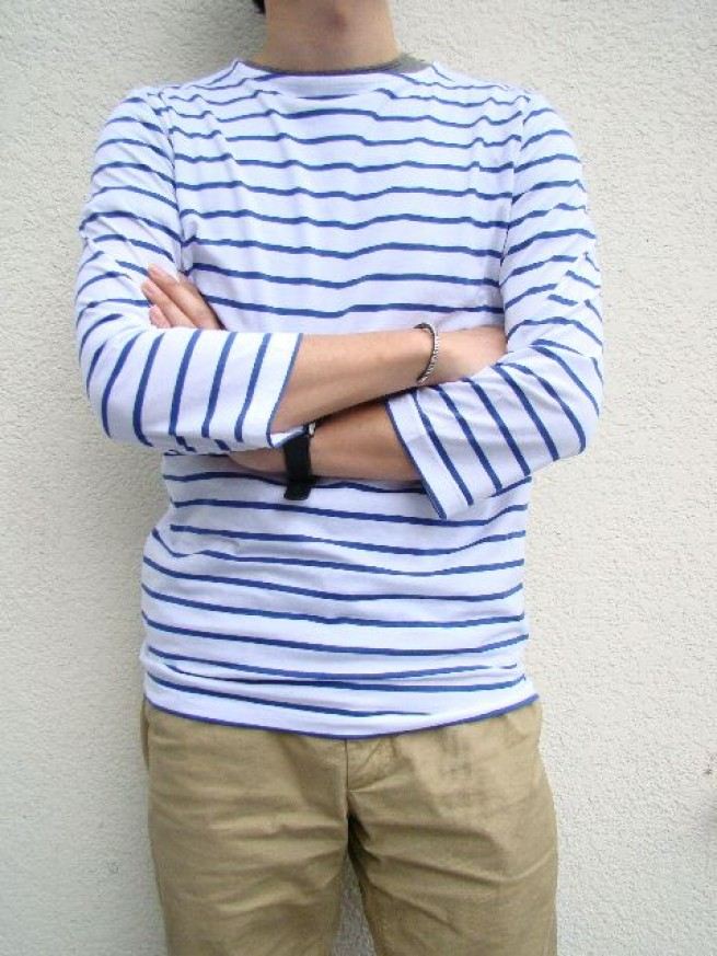 "|【Pyjama Clothing""UNI""ピジャマクロージングユニ】 MARINE BOAT ST ""white/royal""写真"