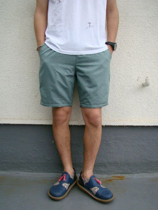 "|【VOO ヴォー】REVERSIBLE EAZY SHORTS 29 ""emarald dot""写真"