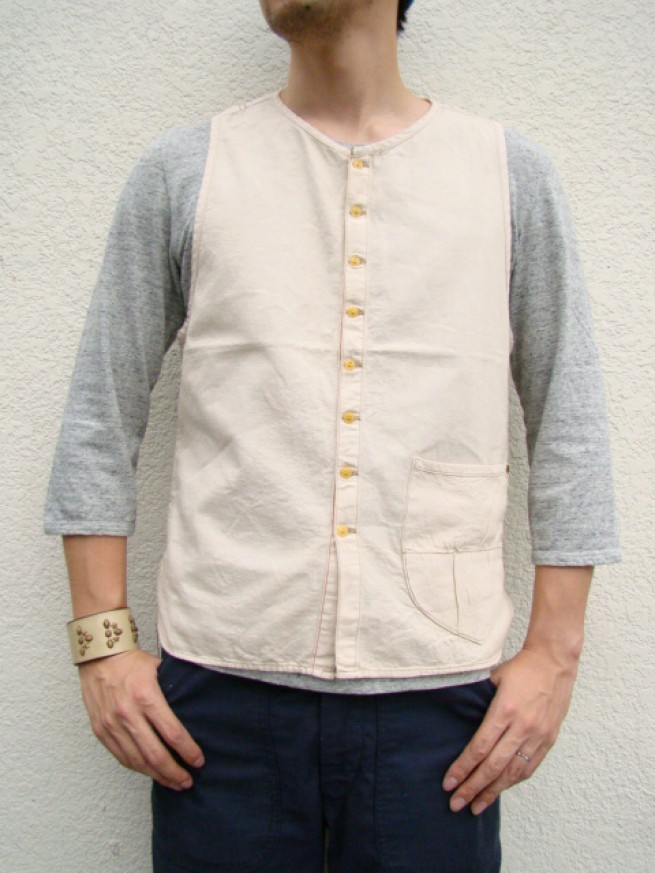 "|【anachronormアナクロノーム】SHIRTS VEST  ""off white""写真"