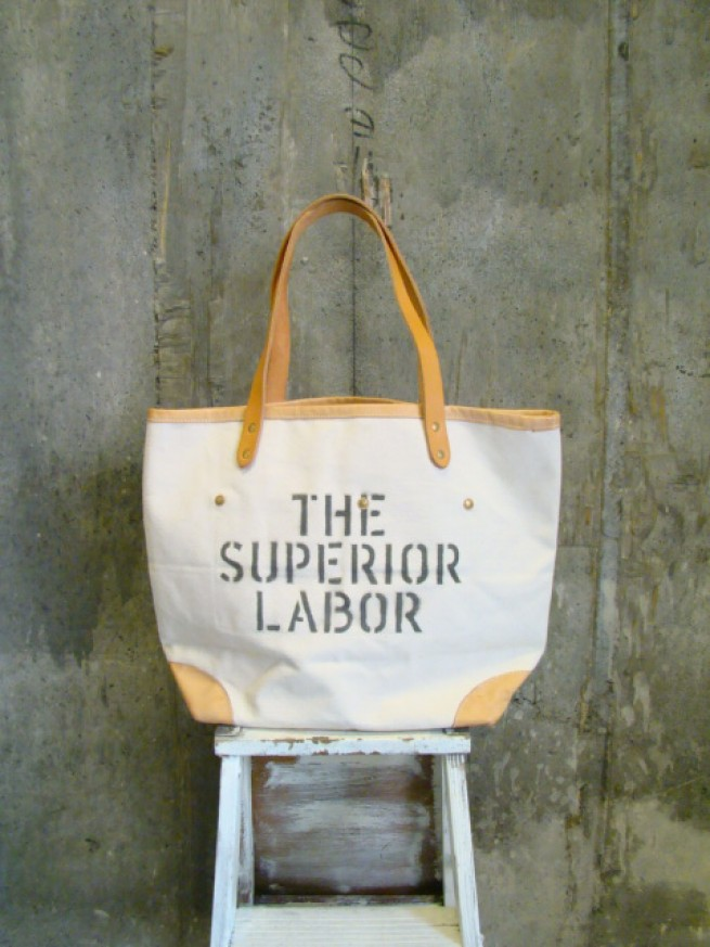 |【The Superior Labor シュぺリオールレイバー】DRAWSTRING TOTE BAG(2color)写真