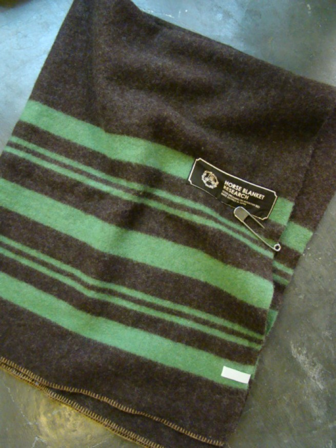 "|【Horse Blanket Research ホースブランケットリサーチ】 ""Stripe""(brown/green)写真"