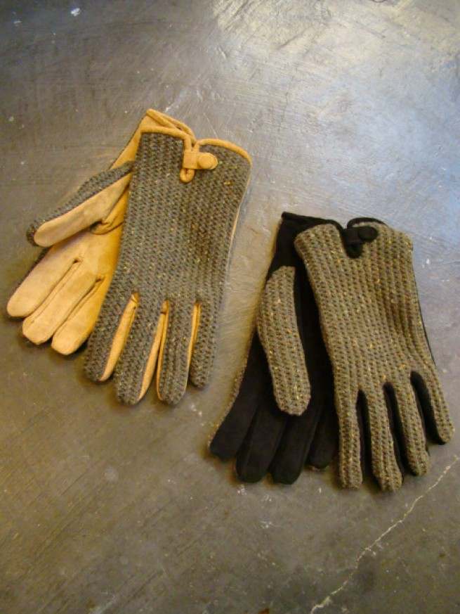 |【ANACHRONORM アナクロノーム】  SUEDE KNIT GLOVE (ANC-189)写真