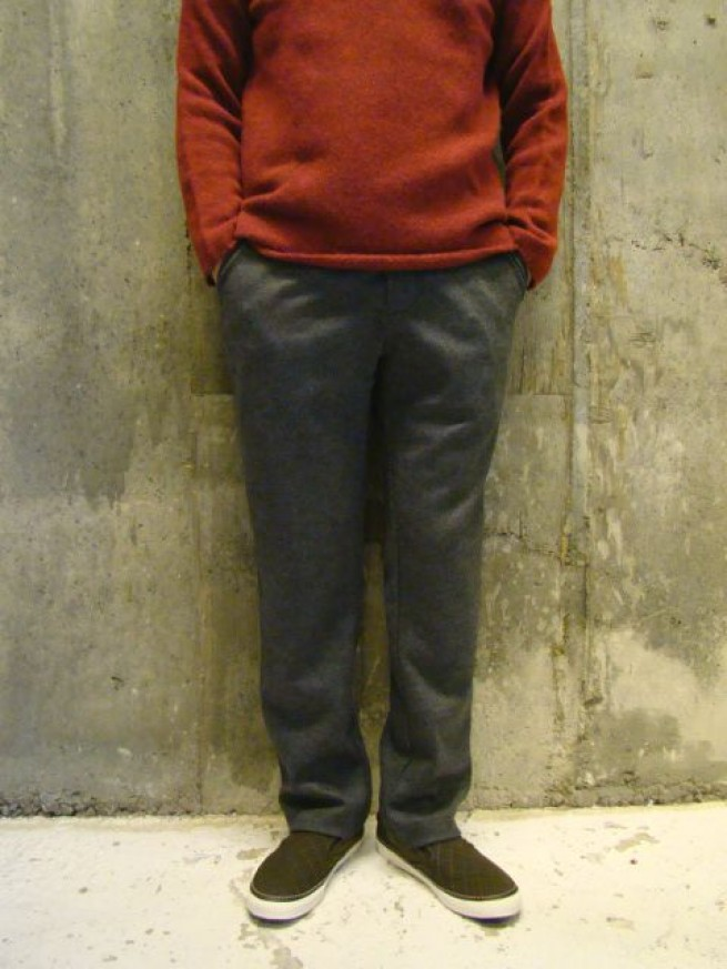 "|【Curly カーリー】SPILIT TROUSERS""gray""写真"