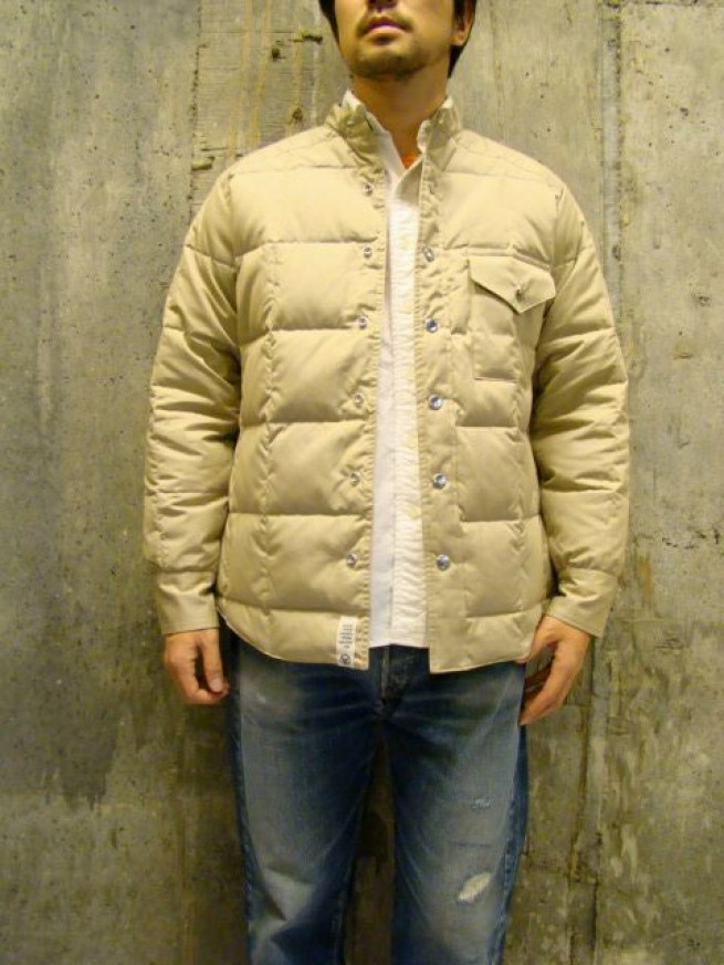 "|【Mountain Research マウンテンリサーチ】DOWN SHIRTS""beige""写真"