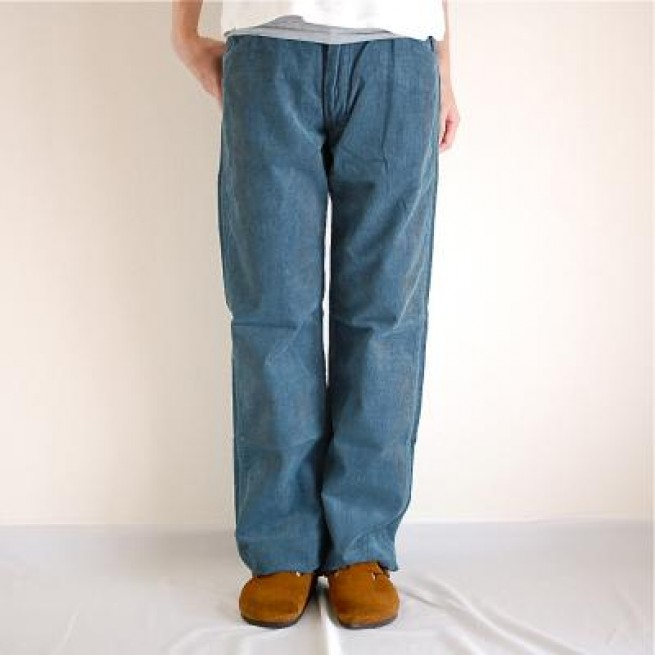 【MANUAL ALPHABET】5P CODUROY PANTS / BLUE写真