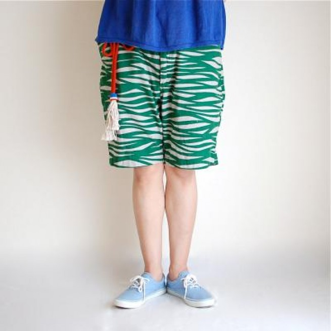 【miraco】WATER WIDE SHORTS / GREEN写真