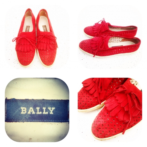 『BALLY』 Cutwork design  Nubuck leather shoes.写真