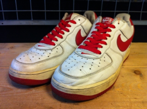 NIKE AIR FORCE I LOW (ホワイト/レッド) USED写真