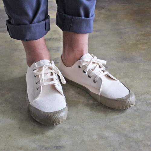 YMC (MEN'S) - LOW SIDE CANVAS TRAINER (ECRU)写真