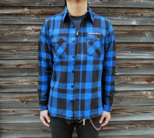 BARKBOX Original Heavy Frannel Shirts [Blue]写真