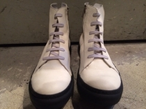 10 sei0 otto Side-Zip Leather Sneaker