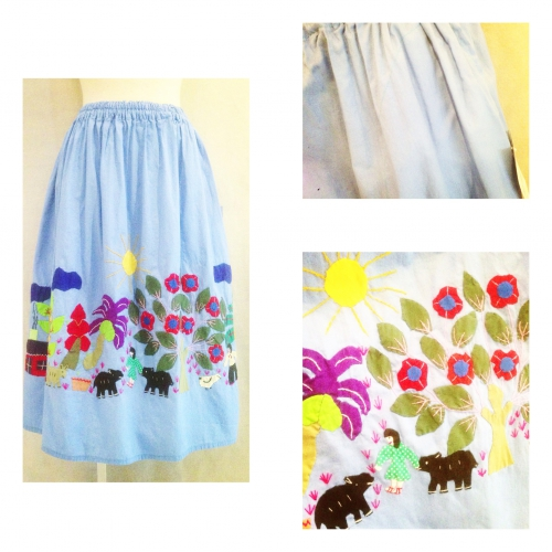Women's Patchwork & embroidery design Skirt. 写真