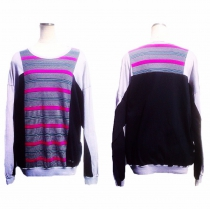 Euro Marti border switch design L/S cutsew.