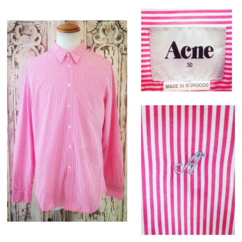 Men's 『Acne』 Stripe design L/S shirt.写真