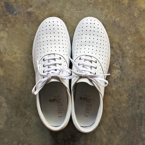 F-TROUPE - LEATHER LACE UP SHOES (WHITE)写真