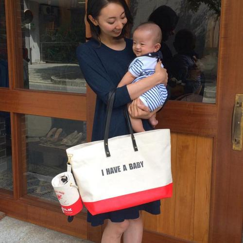 "HARRIET - Canvas Tote ""I HAVE A BABY""写真"