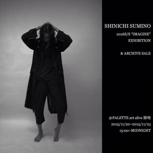 "【11/20 fri 〜 11/23 mon SHINICHI SUMINO 2016S/S ""IMAGINE"" EXHIBITION】写真"
