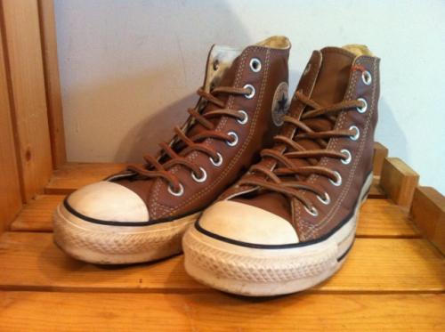 converse ALL STAR BROWNIE HI (ブラウン) USED写真