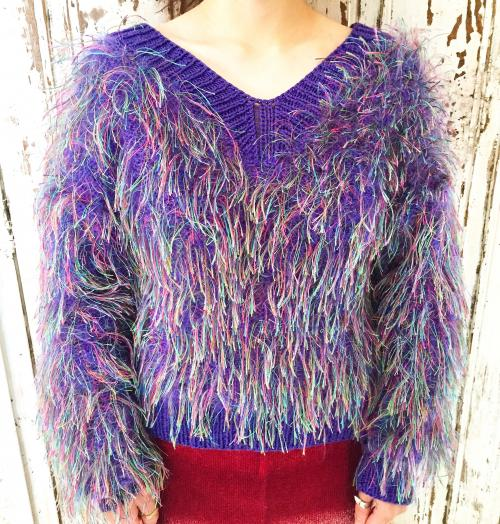 Women's moke moke design knit!!!!!写真