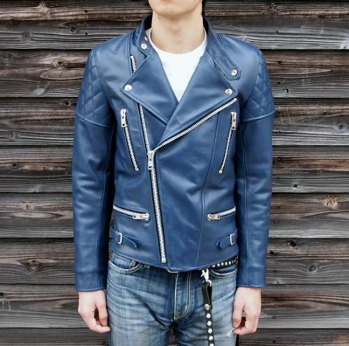 BARKBOX Watery Blue Leather Jacket Type-3写真