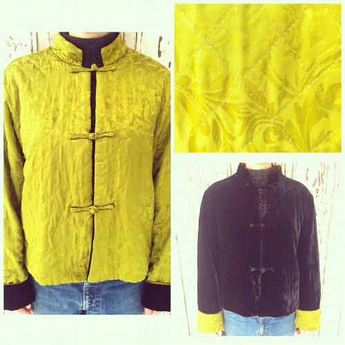 Women's quilting reversible China jacket!!!写真