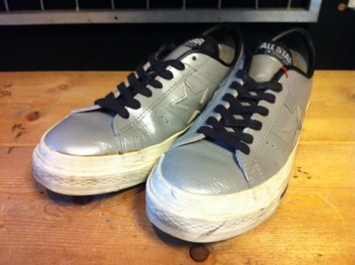 converse ONE STAR OX (グレー/グレー) USED写真