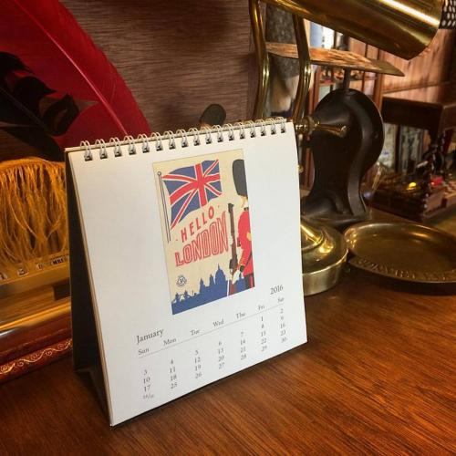 "CAVALLINI & CO - Desk Calendar ""LONDON"" 2016写真"