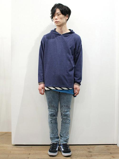 AlexanderLeeChang chemical skiknee denim写真