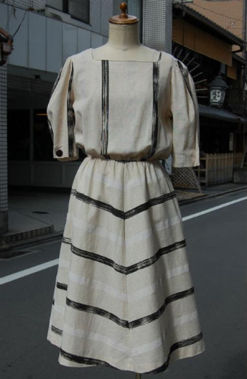 USA c.1980s cotton 100% dress写真