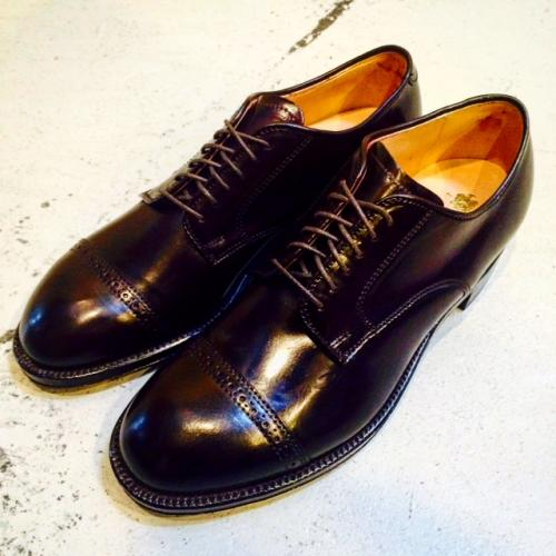 ALDEN / #56201 Shell Cordovan Punched Cap Toe写真