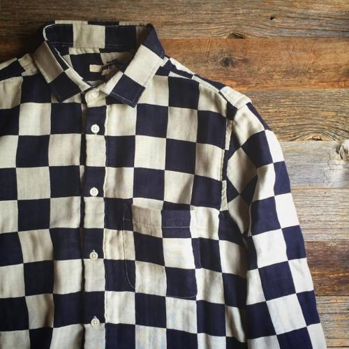 Checkerbord Shirt by YMC (mens) 写真