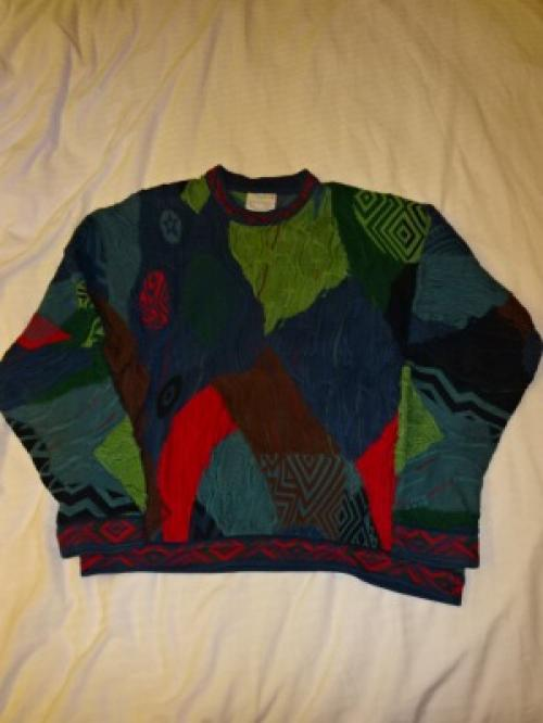 "1980~90's Design Cotton Sweater ""GOOGI""写真"