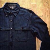 RRL / Indigo Herringbone Work Shirts