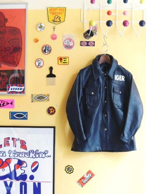 1970's BATES Motorcycle Leather jacket snap.02写真
