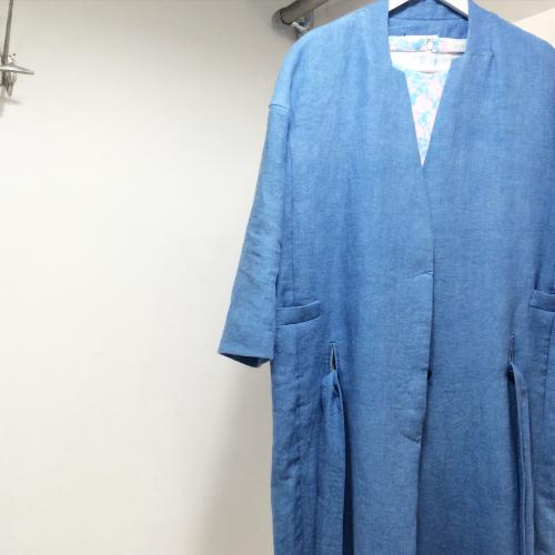 BELPER  Linen wash coat写真