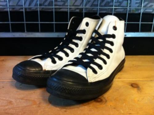 converse ALL STAR LEATHER BIECOLOR HI (ホワイト) USED写真