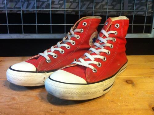 converse ALL STAR HI (レッド) USED写真