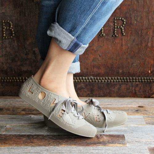 F-TROUPE- LOVE & PEACE BATHING SHOES (TAUPE)写真