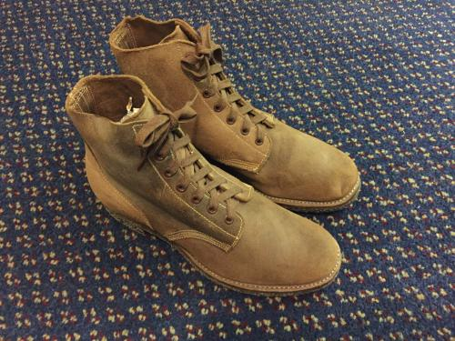 WWⅡ 40's USN M-43 TYPE3 ROUGH OUT BOOTS写真