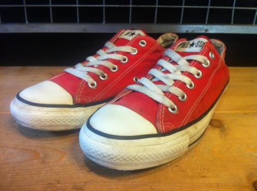 converse ALL STAR OX (レッド) USED写真